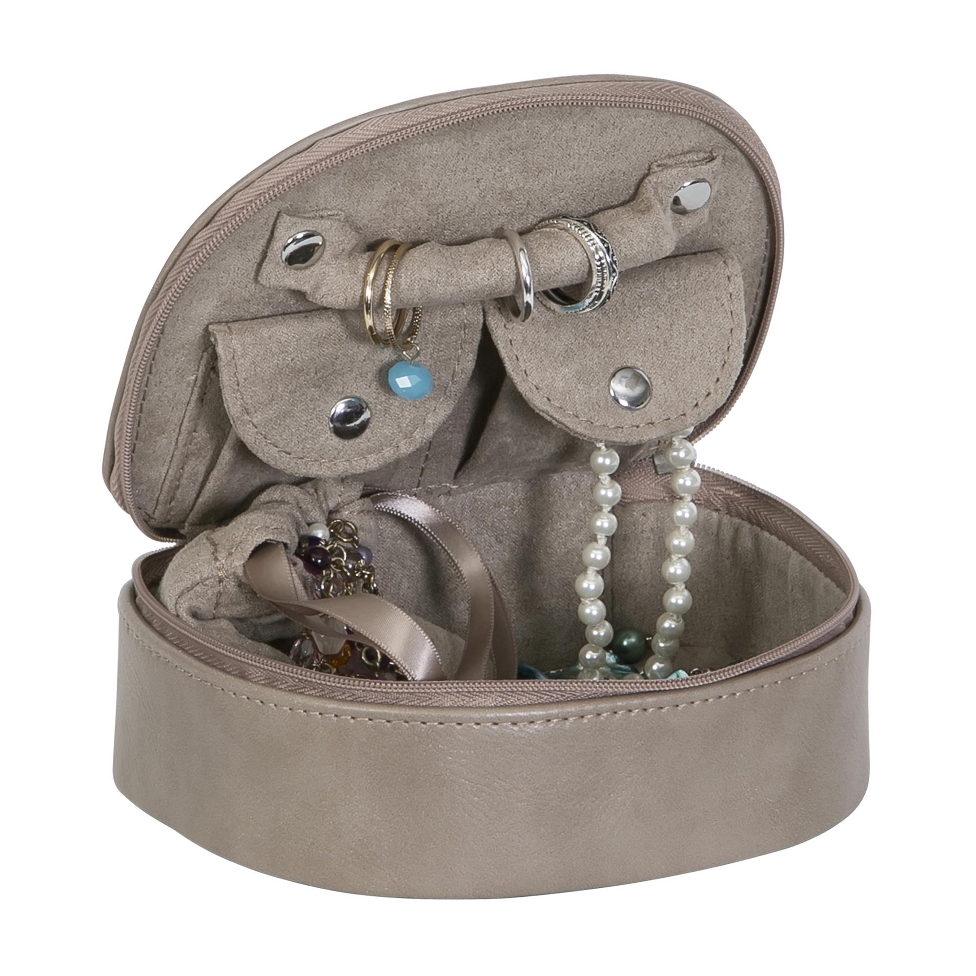 Mele Co Plush Fabric fashion jewelry box Sand