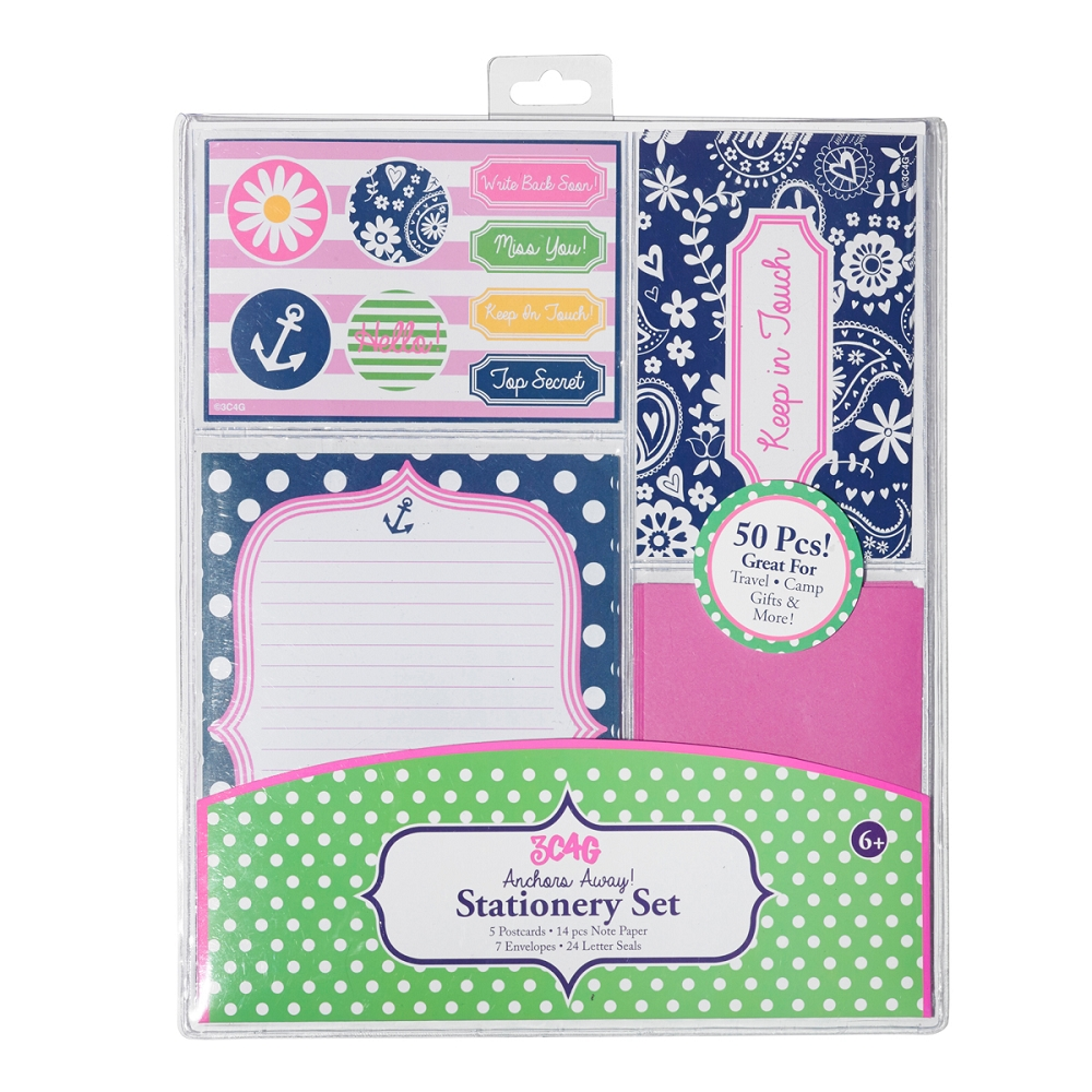 Bunk Junk 3c4g Stationery Set Sail 36125