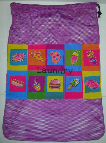 Bunk Junk Junk Food Laundry Bag