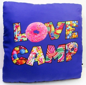 Bunk Junk Love Camp Candy Autograph Pillow