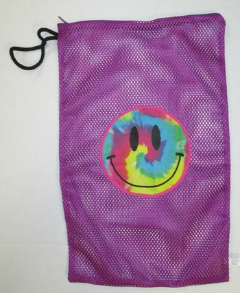 Bunk Junk Smile Purple Mesh Sock Bag