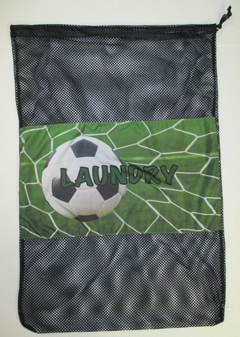 Bunk Junk Soccer Mesh Laundry Bag