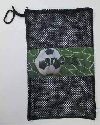 Bunk Junk Soccer Mesh Sock Bag