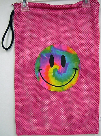 Bunk Junk Tie Dye Smile Mesh Sock Bag.