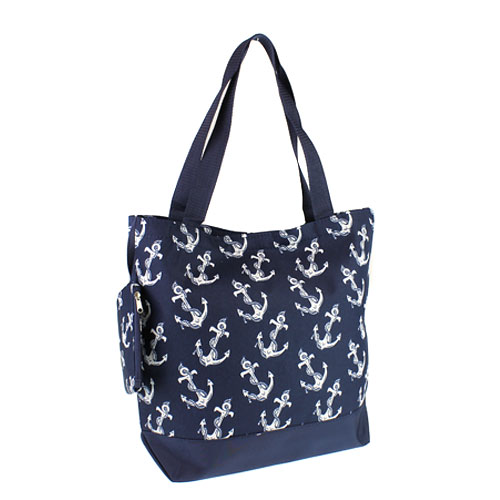 Bunk Junk Luggage 0317 Tote Anchor Navy Blue Lg