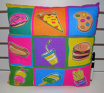 Bunk Junk Junk Food Autograph Pillow