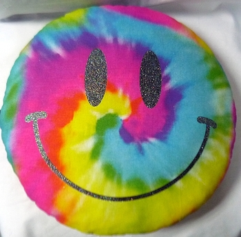 Bunk Junk Emolji Tye Dye Pillow