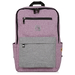 ELESAC 16.5 inch backpack for school, camp, travel, water resistant kids backpack (Purple/Gray)