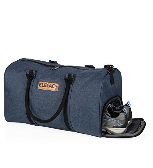 Elesac Travel Duffel Express Weekender Bag Carry On Luggage With Shoe Compartment Choose A Color