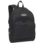 Everest Classic Backpack W/ Front Organizer - Black