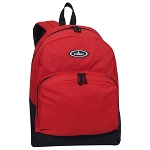 Everest Classic Backpack W/ Front Organizer - Red