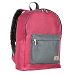 Everest Basic Color Block Backpack - Burgundy/charcoal