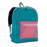 Everest Basic Color Block Backpack - Dark Teal/marsala