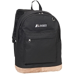 Everest Suede Bottom Backpack - Black