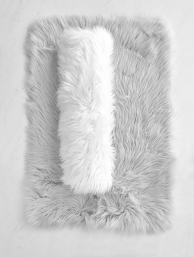 matisse faux fur accent rug gray includes embroidery. Black Bedroom Furniture Sets. Home Design Ideas