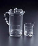 Lucite 2 Qt Square Pitcher