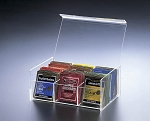Lucite 6 Compartment Tea Box
