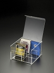 Lucite 4 Compartment Tea Box