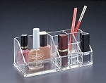 Lucite Makeup Organizer with Lipstick Holder