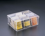 Lucite 9 Compartment Tea Box