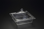 Lucite Square Tray with Cover