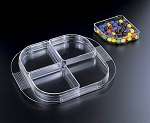 Lucite Tray with 4 Removable Dishes (Set of 5 Tray & Nesting Dishes (12