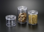 Lucite Round Cookie Jar CHOOSE A SIZE (3 Sizes)