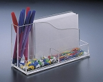 Lucite Desk Organizer with Memo Holder INCLUDES ENGRAVING