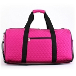 Quilted Large Duffel Bag (Pink/Black)