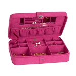 Mele Celia Plush Fabric fashion jewelry box Pink
