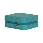 Josette Faux Leather Travel Jewelry Case (Turquoise)