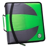Case-it Dual 2-in-1 Zipper D-Ring Binder, 2 Sets of 1.5-Inch Rings with Pencil Pouch