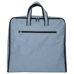 ELESAC Foldable Garment Bag,Clothing Suit Dance w/Pockets, for Business Travel (Denim Blue)