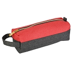 ELESAC Pencil Case (Dark Gray/Coral)