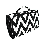 Hanging Travel Cosmetic Bag (Black Chevron)
