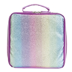 PINK STRIPED GLITTER LUNCH COOLER