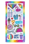 AWESOME SUMMER BEACH TOWEL - INCLUDES EMBROIDERY