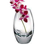Radiant European Mouth Blown Crystal 11 in. Vase