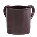 Washing Cup Powder Coated - Chocolate Brown
