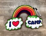 I Love Camp Rainbow Autograph Pillow