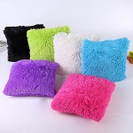 Furry Pillow case with Pillow CHOOSE A COLOR INCLUDES EMBROIDERY