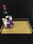 Glitter Lucite Acrylic Serving Tray Mishloach Manot