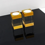 Crystal Tea-Light Set (Gold)