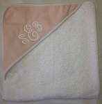 Infant Hooded Towel Twill (Light Pink) INCLUDES EMBROIDERY