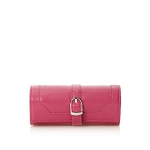 Morelle & Co Olivia Belted Jewelry Roll Travel Case (Hot Pink)