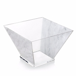 Lucite Trapezoid Salad Bowl - Large CHOOSE A COLOR