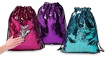 Reversible Sequin Drawstring Sling Bag