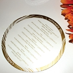 Lucite Simanim Card (Round) CHOOSE A COLOR