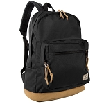Everest Suede Bottom Daypack W/ Laptop Pocket (Black)