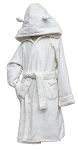 White Velour Robe with Hood CHOOSE A SIZE